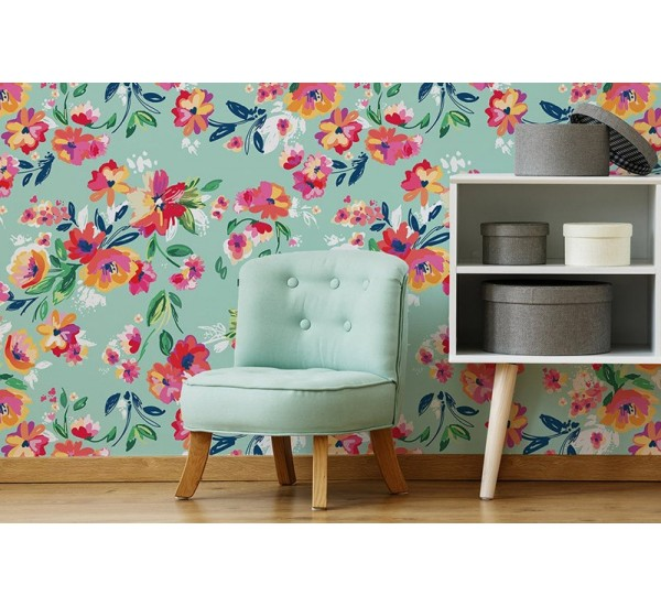 Floral Happiness Removable Wallpaper