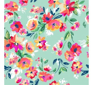 Floral Happiness Removable Wallpaper pattern