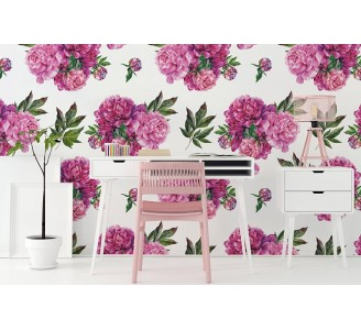 Peonies bouquet Removable Wallpaper