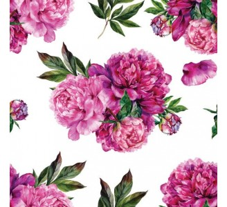 Peonies bouquet Removable Wallpaper pattern