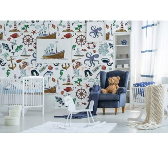 Marine Life Removable Wallpaper
