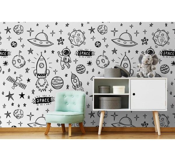 Space Removable Wallpaper
