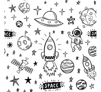 Space Removable Wallpaper pattern