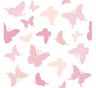Pink Butterfly Removable Wallpaper pattern