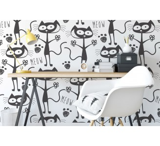 Lovely Cats Removable Wallpaper