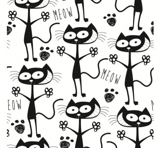 Lovely Cats Removable Wallpaper pattern
