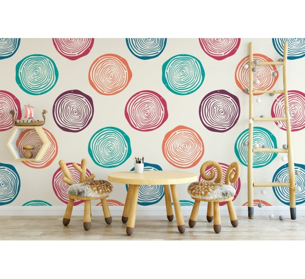 Vintage Circles Removable Wallpaper