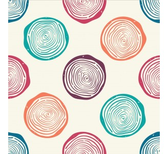 Vintage Circles Removable Wallpaper pattern