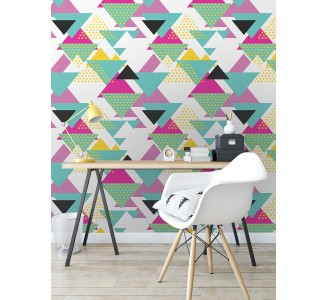Triangles Removable Wallpaper full view