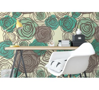 Floral Chillout Removable Wallpaper