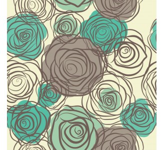 Floral Chillout Removable Wallpaper pattern