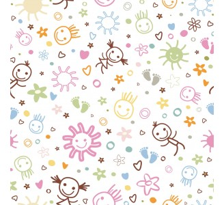 Happy Sketch Removable Wallpaper pattern