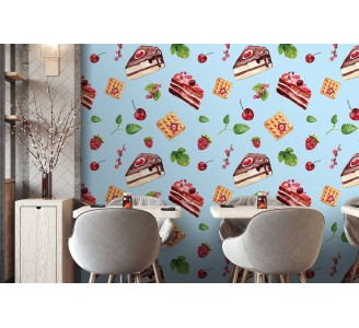 Delicious Cakes Removable Wallpaper