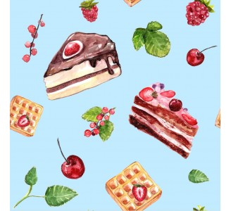 Delicious Cakes Removable Wallpaper pattern