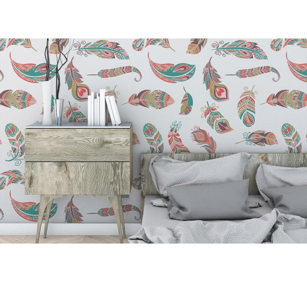 Light Feathers Removable Wallpaper
