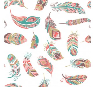Light Feathers Removable Wallpaper pattern