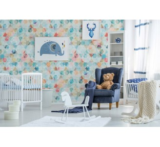 Colorful Cubes Removable Wallpaper nursery