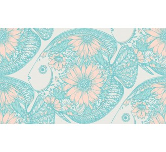 Floral Fish Removable Wallpaper pattern