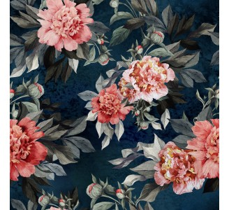 Watercolor Pink Peonies Removable Wallpaper pattern