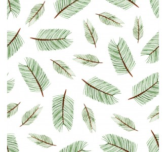 Coniferous Branches Removable Wallpaper pattern