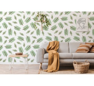 Coniferous Branches Removable Wallpaper full view