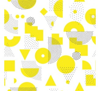 Yellow Abstract Removable Wallpaper pattern