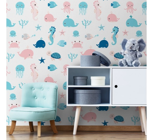 Sea Animals Removable Wallpaper