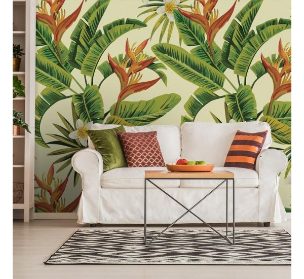 White Tropical Removable Flowers