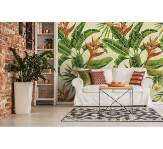 White Tropical Removable Flowers full view