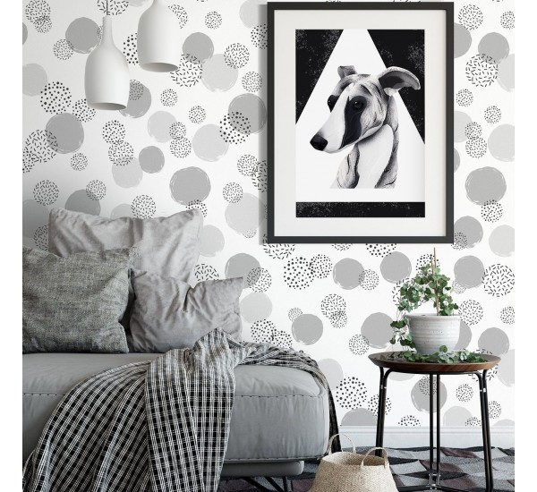 Elegant Dotted Pattern Removable Wallpaper