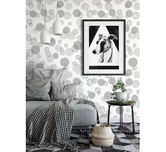 Elegant Dotted Pattern Removable Wallpaper full view