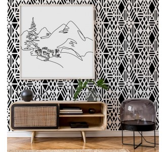 Black Rhombuses Removable Wallpaper