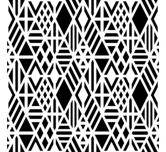 Black Rhombuses Removable Wallpaper pattern