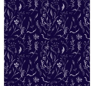 Ornament Flowers Removable Wallpaper pattern