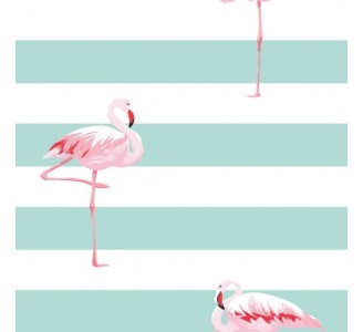 Pink Flamingo Removable Wallpaper pattern