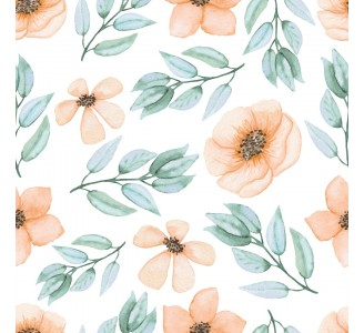 Watercolor Yellow Flowers Removable Wallpaper pattern