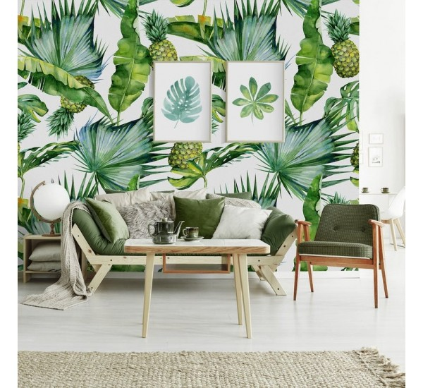 Tropical Pineapple Removable Wallpaper