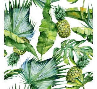 Tropical Pineapple Removable Wallpaper pattern