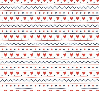 Scandinavian Hearts Removable Wallpaper pattern