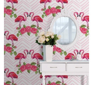 Romantic Flamingo Removable Wallpaper