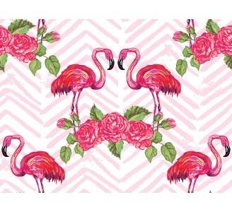 Romantic Flamingo Removable Wallpaper pattern