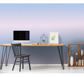Hexagon Shapes Removable Wallpaper full view