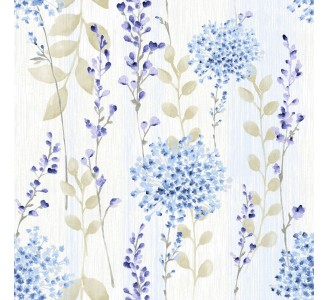 Country Flowers Removable Wallpaper pattern