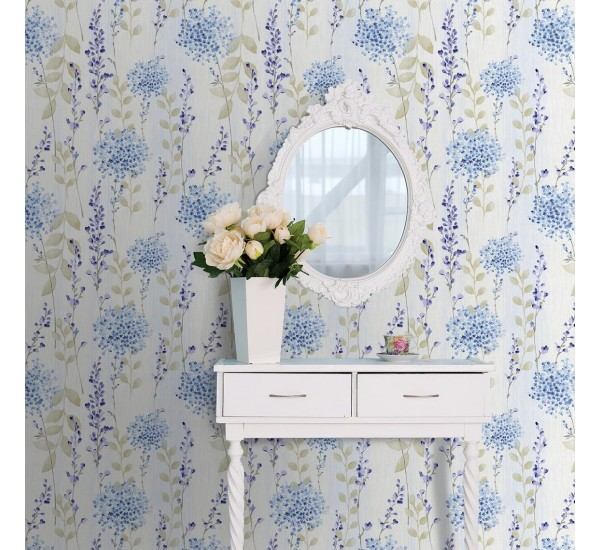 Country Flowers Removable Wallpaper