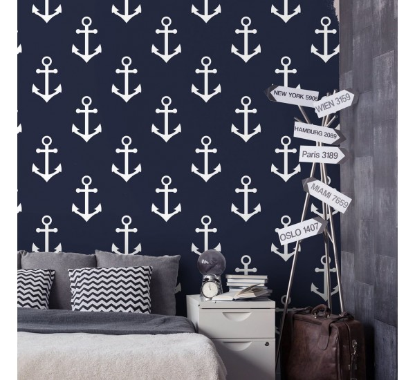 Marine Anchor Removable Wallpaper