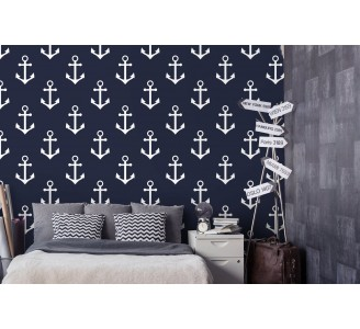 Marine Anchor Removable Wallpaper full view
