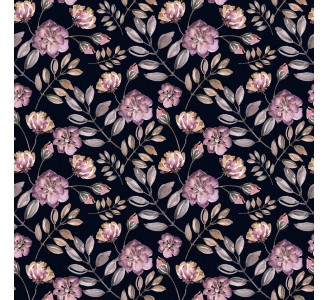 Blooming Pink Roses Removable Wallpaper pattern