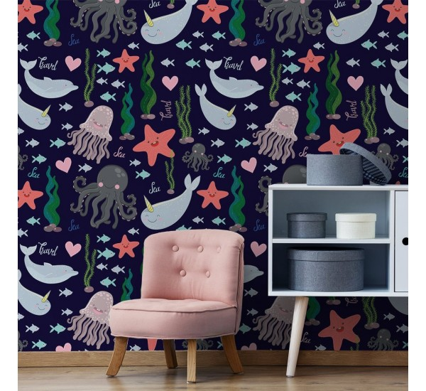 Sea Creatures Removable Wallpaper