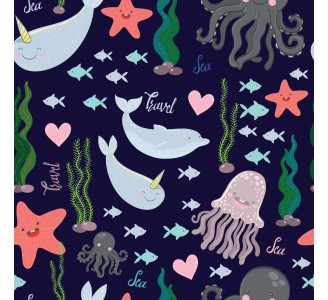 Sea Creatures Removable Wallpaper pattern