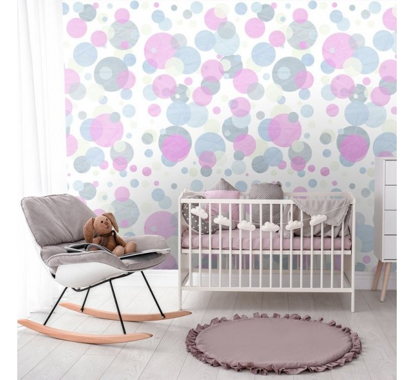 Colorful Abstract Circles Removable Wallpaper